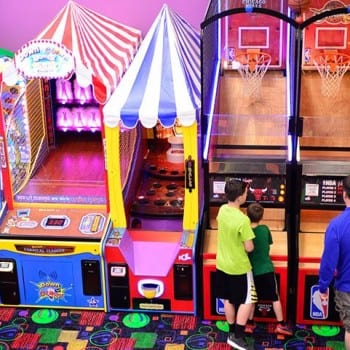 Playing Games at the Top Jump Arcade